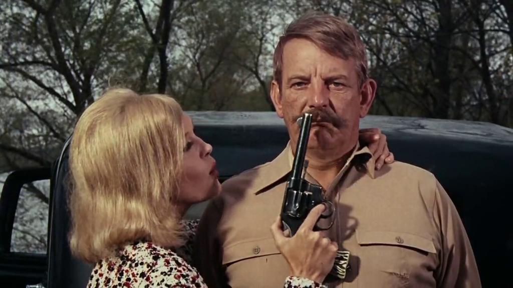 "Kadrs no filmas ""Bonija un Klaids"" (Bonnie and Clyde, 1967)"
