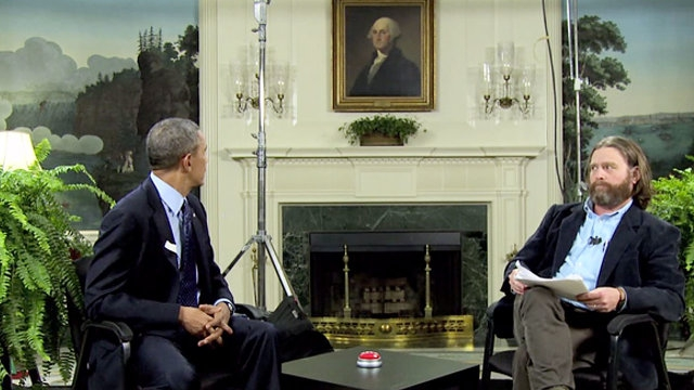 "ASV prezidents Baraks Obama humora šovā ""Between Two Ferns"" (2014)"